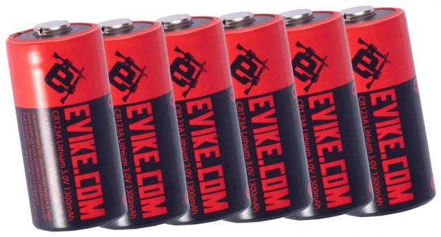 Evike.com High Performance CR123A 3V Lithium Battery - Pack of 6
