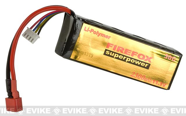 Firefox 11.1V 2300mAh High Performance Airsoft Li-Poly Battery Pack - Standard Deans Connector