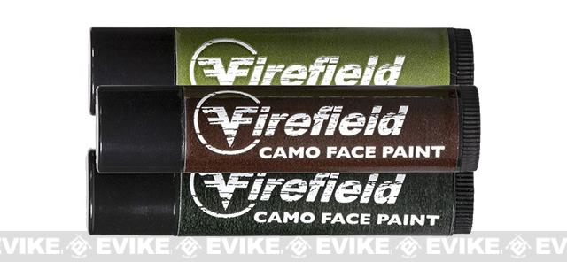 Firefield Woodland Camo Face Paint - 3 Tube Pack (OD Green, Black, Brown)