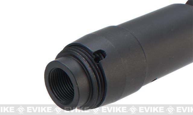 Matrix AK74 Type Steel Airsoft Flash Suppressor (14mm Negative)