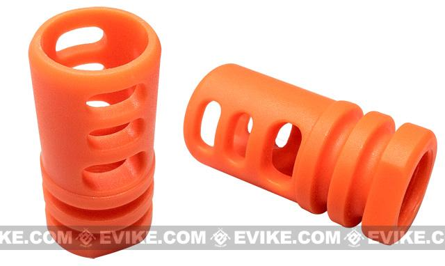 Matrix Shark Type Orange Flashhider for Airsoft AEG Rifles (14mm positive)