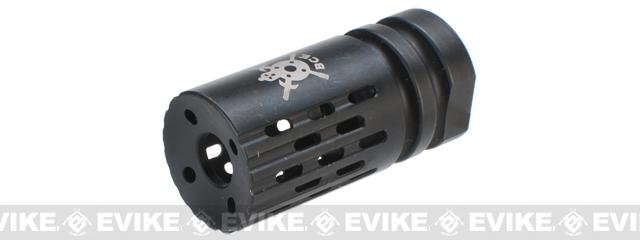 PTS Battle Comp 2.0 SCV Black Oxide Airsoft Flash Hider - 14mm Positive