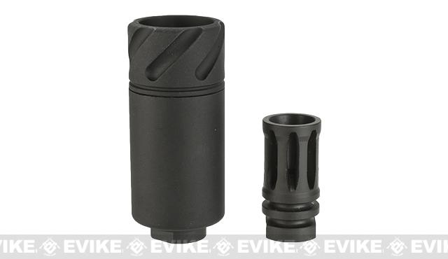 5KU Flaming Tornado Convertible Flash Hider / Amplifier (14mm - / Negative threading / CCW) - Black