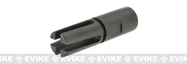 WE CNC Steel M14 EBR Style Flash Hider - 14mm Negative