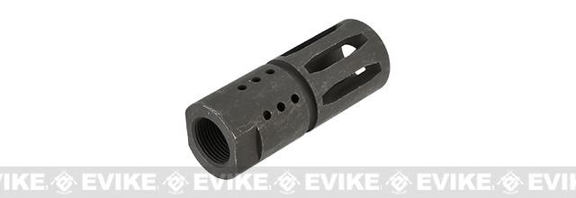 WE CNC Steel T91 Style Flash Hider - 14mm Negative