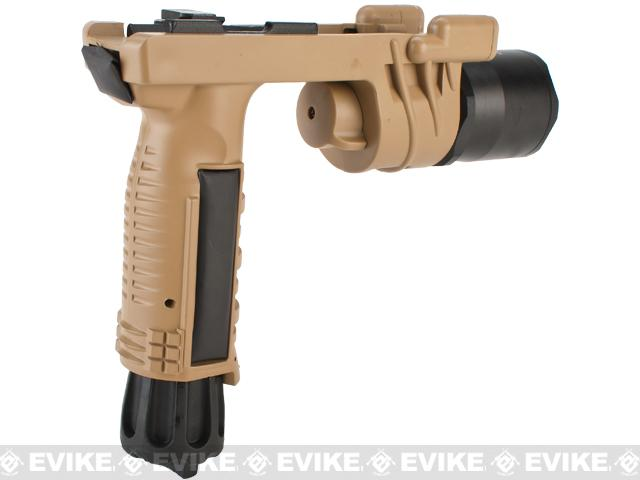 Avengers M900 Tactical Illuminator Vertical Grip w/ LED Grip Light for Airsoft - Desert