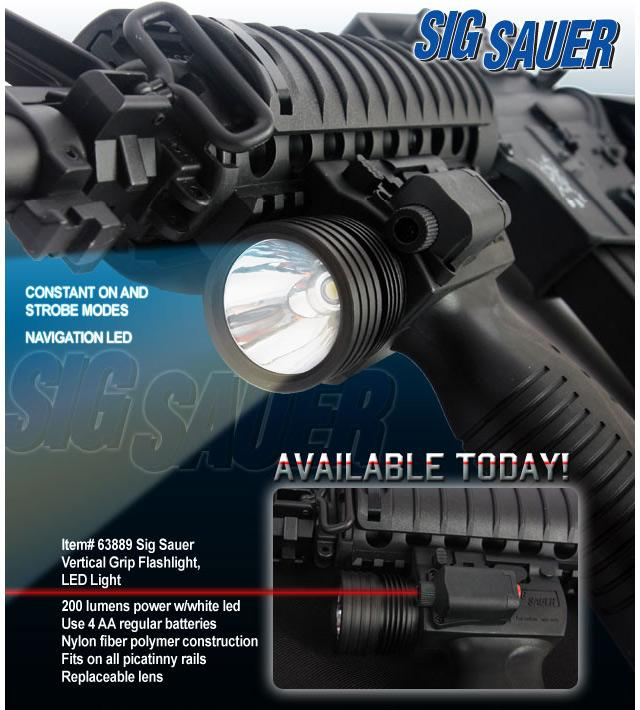 Sig Sauer Vertical Support Grip and Tac. Light with LED Module