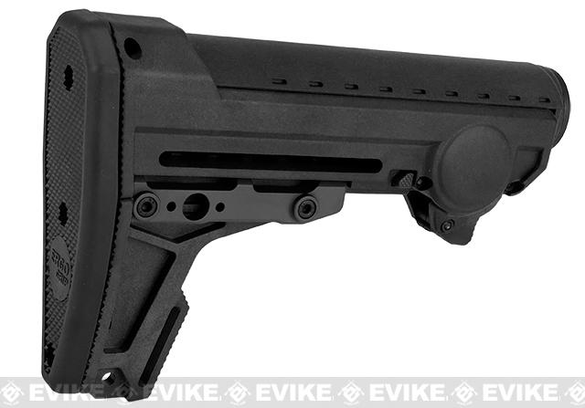 PTS Ergo F93 Pro Stock with Pad for Airsoft AEGs - Black