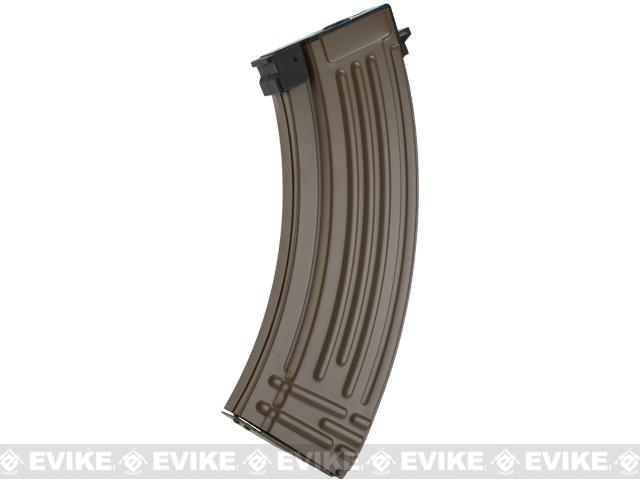 Full Metal Flash Mag 600rd Hi-Cap Magazine for AK Series Airsoft AEG - Tan