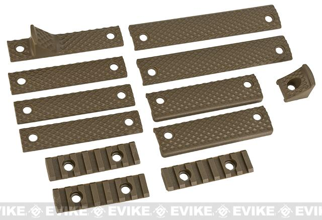 APEX Airsoft R5 Hand Guard Rail Accessory Set -(Color: Dark Earth)