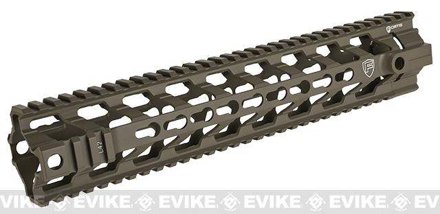 PTS Licensed Fortis REV 12 Rail System for M4 / M16 Series Airsoft AEG / GBB Rifles - Dark Earth