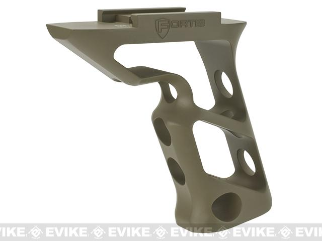 PTS® Fortis Shift™ CNC Machined Billet Aluminum Short Vertical Picatinny Mounted Grip (Color: Dark Earth)