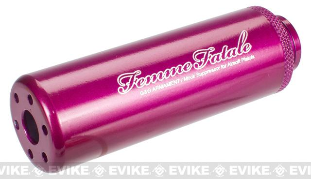 G&G Femme Fatale Mock Suppressor - Pink / 14mm Negative