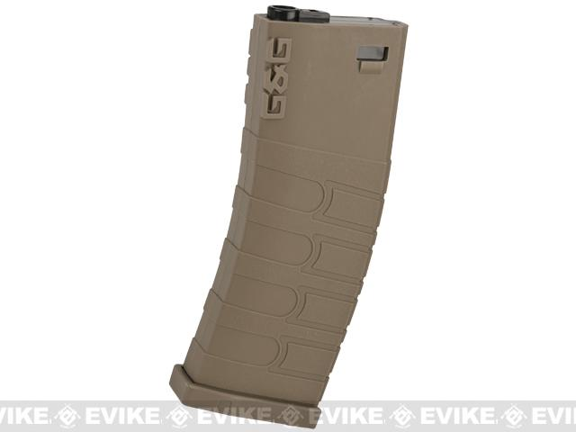 G&G 120rd Polymer Mid-cap Magazine for M4 / M16 Series Airsoft AEG Rifles - Desert
