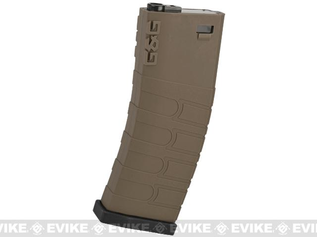 G&G 120rd Polymer Mid-cap Magazine for M4 / M16 Series Airsoft AEG Rifles - Black