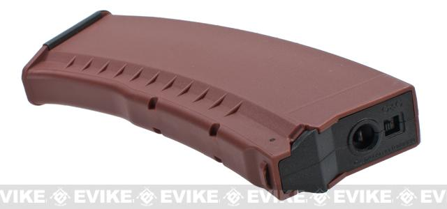 G&G 120rd Polymer Magazine for AK74 / AK47 Series Airsoft AEG Rifles - Brown