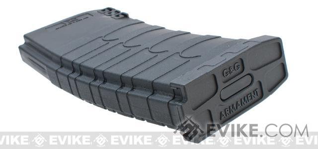 G&G 120rd Polymer Mid-cap Magazine for M4 / M16 Series Airsoft AEG Rifles - Black / Set of 5