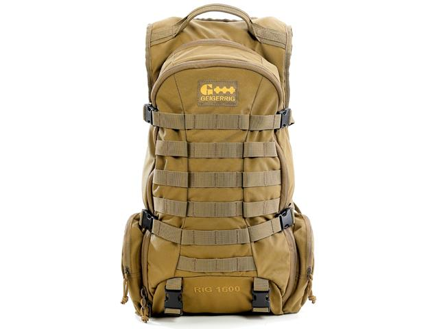 GEIGERRIG RIG1600 Tactical Hydration Pack w/ 2L Hydration Engine - Coyote
