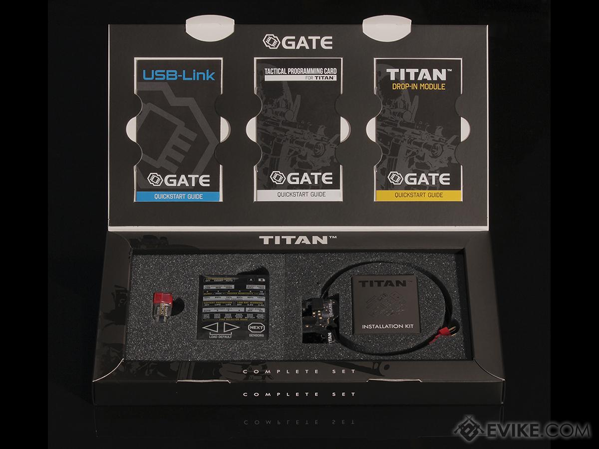 Pre-Order ETA January 2017 Gate TITAN Airsoft Advanced drop-in AEG MOSFET Complete Set with Programming Card and USB-Link - (Rear Wired)