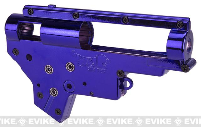 z Aim Top Custom Reinforced 8mm M4/M16 Gearbox with 8mm Bearings (Color: Blue)