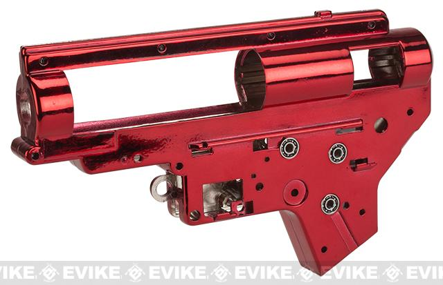 z Aim Top Custom Reinforced 8mm M4/M16 Gearbox with 8mm Bearings (Color: Red)