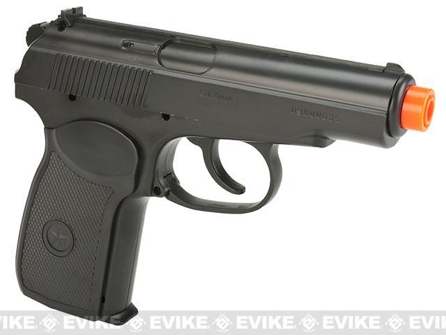 Gun Heaven CO2 Powered Makarov Non-Blowback Airsoft Pistol - Black