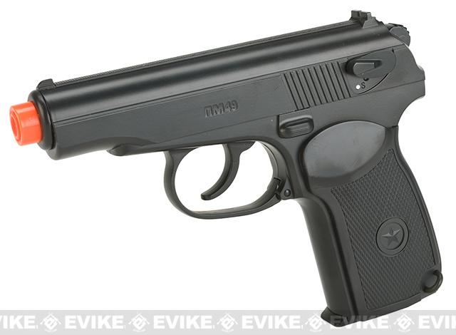 Gun Heaven CO2 Powered Makarov Non-Blowback Airsoft Pistol - Black