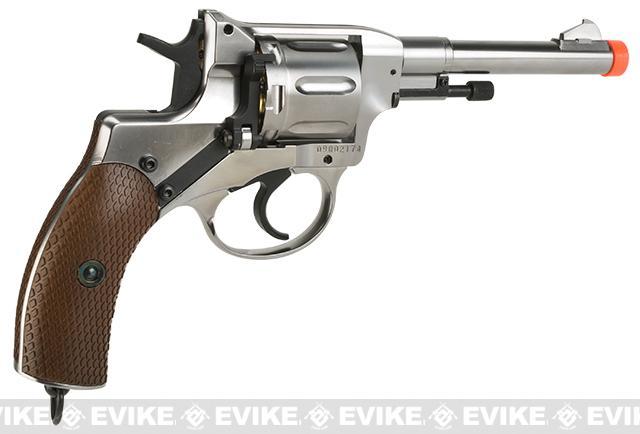 Gun Heaven  Nagant M1895 Airsoft CO2 Revolver - Silver