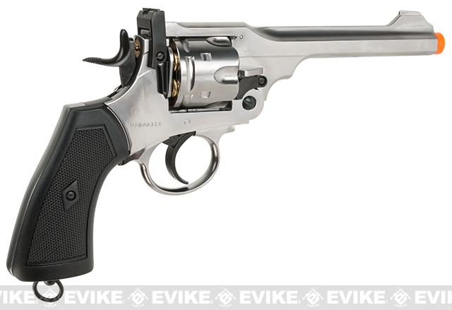 English Webley Licensed MK VI Airsoft Revolver by Win Gun (Color: Silver)