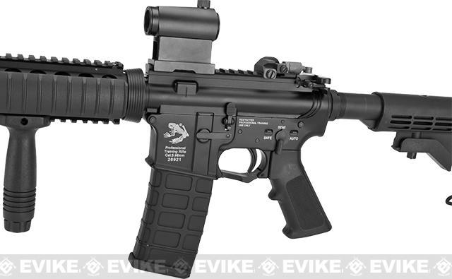 G&P WOC M4A1 Gas Blowback Airsoft Rifle with RIS Handguard - Black