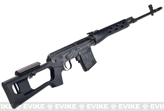 AIM Gas Blowback Russian Classic AK SVD Airsoft GBB Sniper Rifle - Black