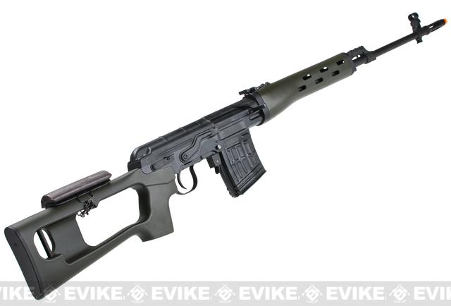 AIM Russian Classic AK SVD Airsoft Gas Blowback GBB Sniper Rifle - OD Green