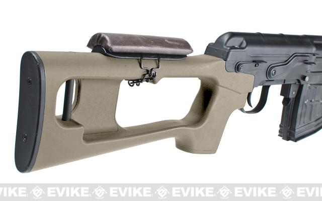 Bone Yard - AK SVD Airsoft Gas Blowback GBB Sniper Rifle  (Store Display, Non-Working Or Refurbished Models)