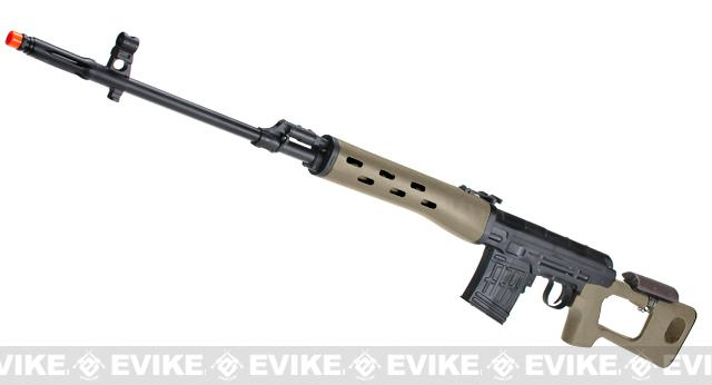 Pre-Order ETA March 2016 AIM Gas Blowback Russia Classic AK SVD Airsoft GBB Sniper Rifle - Dark Earth (580 FPS!)