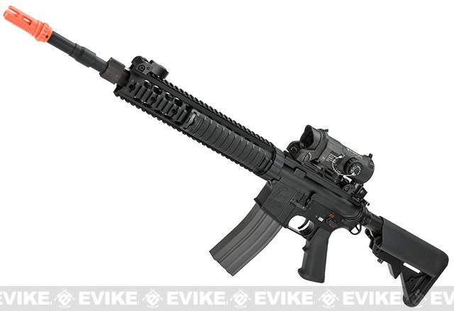 G&G Full Metal GC12 SPR / DMR Airsoft AEG Rifle - Black (Package: Add 9.6 Butterfly Battery + Smart Charger)