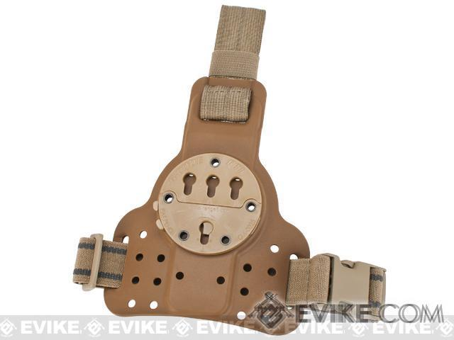 Pre-Order ETA January 2017 G-Code DLS RTI Tactical Kydex Drop Leg Holster Panel w/ Single Leg Strap - Coyote Brown