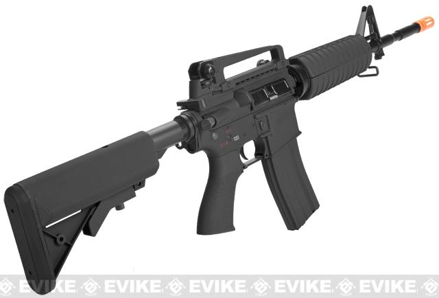 G&G Full Metal M4 Carbine Airsoft AEG Rifle w/ Crane Stock - Black (Package: Add 9.6 Butterfly Battery + Smart Charger)