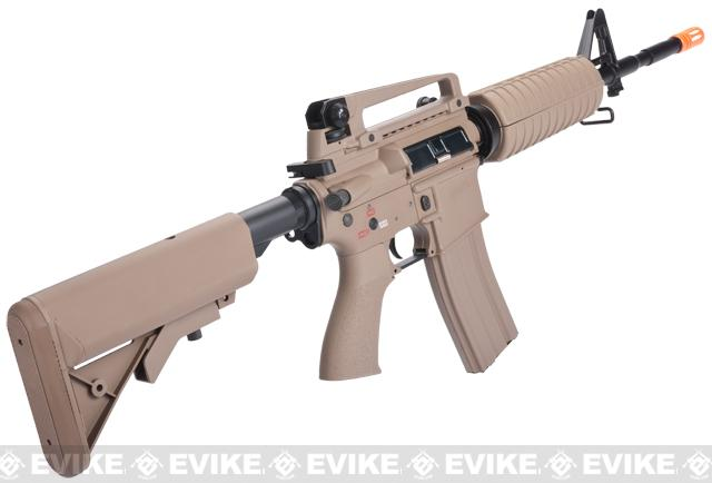 G&G Full Metal M4 Carbine Airsoft AEG Rifle w/ Crane Stock - Desert (Package: Gun Only)