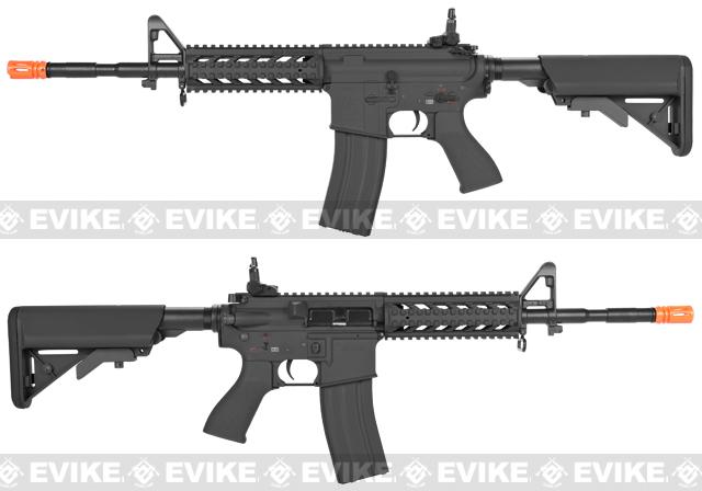 G&G Custom Full Metal M4 Commando Raider Airsoft AEG Rifle w/ Crane Stock - Black (Package: Gun Only)