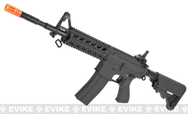 G&G Custom Full Metal M4 Commando Raider Airsoft AEG Rifle w/ Crane Stock - Black (Package: Add 9.6 Butterfly Battery + Smart Charger)