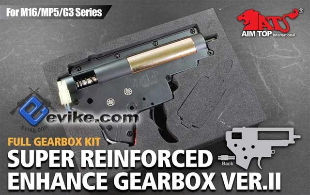 Matrix / AIM Lipoly Ready 8mm Complete Gearbox for M4 / M16 Series Airsoft AEG (M130 / Rear Wiring)