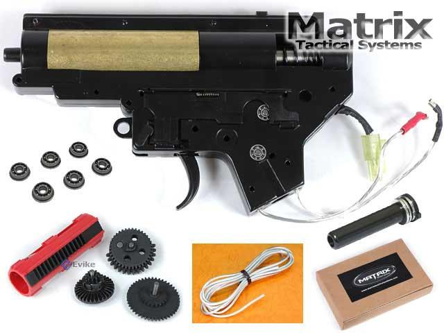 Matrix / AIM Lipoly Ready 8mm Complete Gearbox for M4 / M16 series Airsoft AEG ( M120 / Back Wiring)