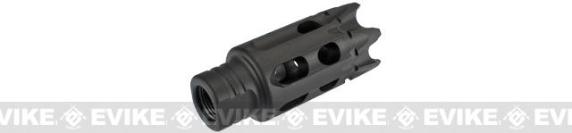 PTS GoGun SuperComp Talon Rifle Brake Airsoft Flash Hider - 14mm Negative