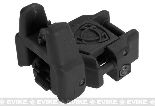 Rhino Flip-Up Tactical Back-Up Rifle Sight by APS - Front Sight / Black