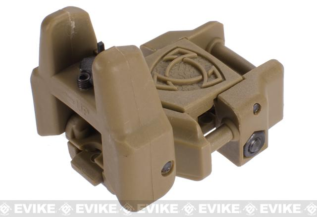 Rhino Flip-Up Tactical Back-Up Rifle Sight by APS - Front Sight / Dark Earth