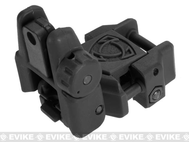 Rhino Flip-Up Tactical Back-Up Rifle Sight by APS - Rear Sight / Black