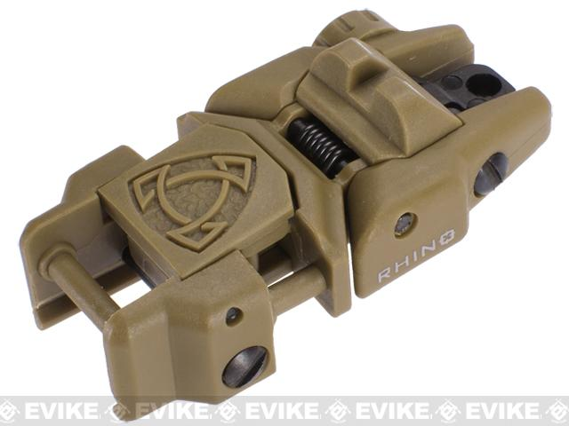 Rhino Flip-Up Tactical Back-Up Rifle Sight by APS - Rear Sight / Dark Earth