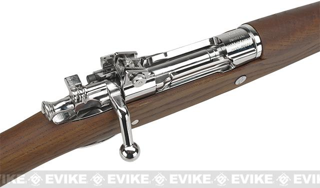 G&G Top Tech GM1903 A3 Airsoft Green Gas / Co2 Gas Rifle with Real Wood Furniture - Silver