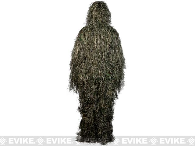 Matrix Full Body 3-Piece Concealment Ghillie Suit Set - Woodland/Green