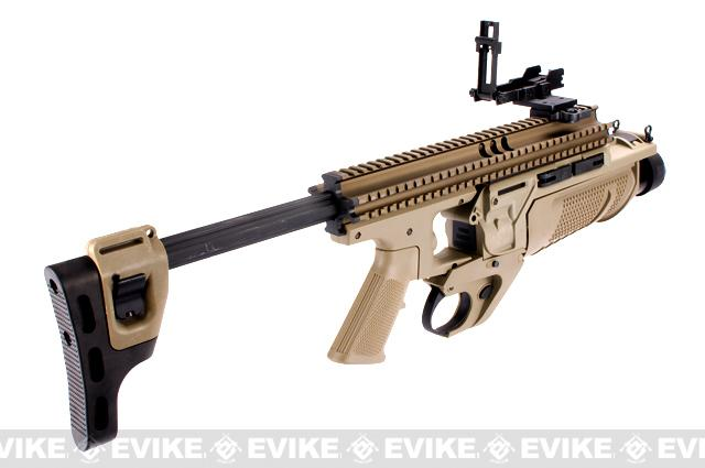 Matrix EGLM Airsoft Grenade Launcher with RIS Kit - (Tan)